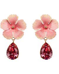 Jennifer Behr - Lucia Pink Flower Earrings - Lyst