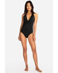 e957144424 Lyst - Urban Outfitters Hurley Mesh Side Zip Up Onepiece Swimsuit in ...
