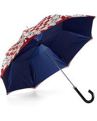 Aspinal of London Ladies Marylebone Stand Up Umbrella - Blue