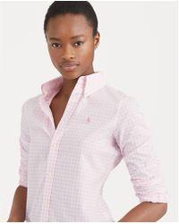 c29e092dcf1c74 Polo Ralph Lauren - Slim Fit Gingham Poplin Shirt - Lyst