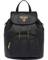 476b9c1cd6fa Lyst - Prada Velvet Backpack in Black