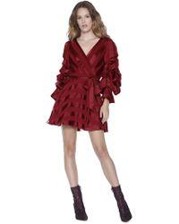 Alice + Olivia - Santina Tuck Sleeve Shirt Dress - Lyst