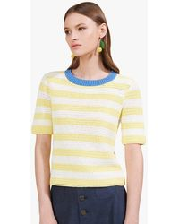 STAUD - Esther Top | Daffodil Cream Stripe - Lyst