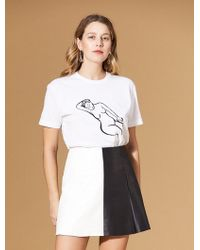 VEDA Frances Costelloe Reclining Nude Tee White