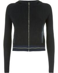 La Perla - Silk Soul Black Silk Knit Long Sleeved Hooded Sweater - Lyst