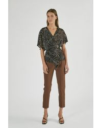 Yigal Azrouël - Tropical Leaf Fil Coupe Wrap Top - Lyst