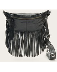 Frye Sacha Fringe Belt Bag - Black