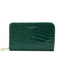 Aspinal of London Midi Continental Clutch Zip Wallet - Green