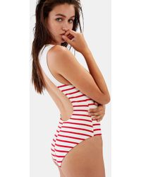 b758b37e348 Lyst - Solid   Striped Sharon Striped Swimsuit