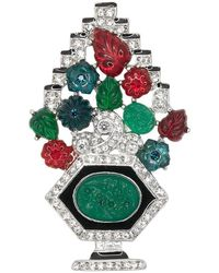 Kenneth Jay Lane - Multi Color Deco Pin - Lyst