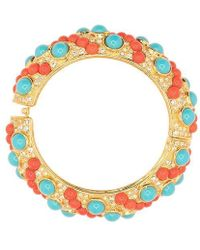 Kenneth Jay Lane - Coral And Turquoise Bracelet - Lyst