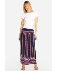 Johnny Was - Frederique Side Slit Maxi Skirt - Lyst