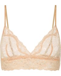 15aec99cb4 Lyst - Eres Evening Silk-blend Satin-trimmed Leavers Lace Soft-cup ...
