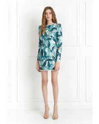 968d2656189d Parker Topanga High Neck Long Sleeve Fitted Short Dress in Black - Lyst