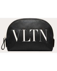 Valentino Small Vltn Make-up Bag - Black