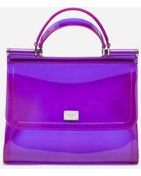 Dolce & Gabbana - Semi-transparent Rubber Sicily Handbag - Lyst