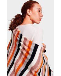 White + Warren - Cashmere Multi Color Stripe Travel Wrap - Lyst