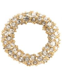 Alexis Bittar Gold Tone Pave Ring Slide - Metallic