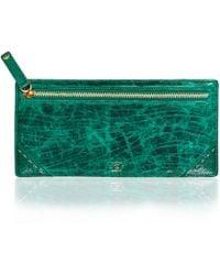 5fe65725739e Okapi - Travel Wallet / Brilliant Green Blesbok & Ostrich Shin - Lyst