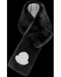 Moncler Fur Scarf - Black