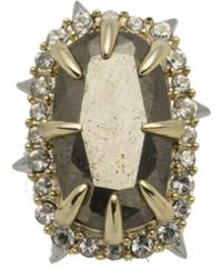 Alexis Bittar Two Tone Pyrite Stone Slide - Multicolor