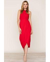 Yumi Kim So Social Jersey Dress - Red