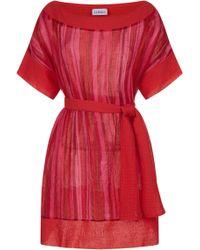 9c118cff470 Lyst - La Perla Hampton Court Black Silk Georgette And Embroidered ...