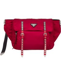 e5a6c797d33a Lyst - Prada Solid Nylon Belt Bag in Red