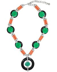 Kenneth Jay Lane - Button Deco Necklace - Lyst