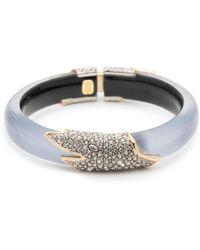 Alexis Bittar - Crystal Encrusted Feather Hinge Bracelet - Lyst