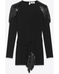 Saint Laurent - Studded Chainmail Dress - Lyst