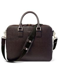 Aspinal of London Large Mount Street Laptop Bag - Brown