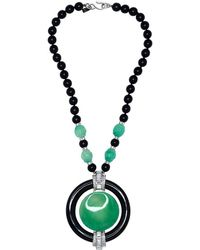 """Kenneth Jay Lane - 36"""" Deco Pendant Necklace - Lyst"""