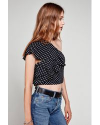 Flynn Skye - Claire Crop Top - Polka Delight - Lyst