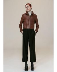 VEDA - Jack Leather Jacket Saddle - Lyst