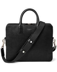 Aspinal of London Slim Mount Street Bag - Black