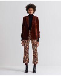 AG Jeans - The Jodi Crop - Untamed Camo Cognac - Lyst