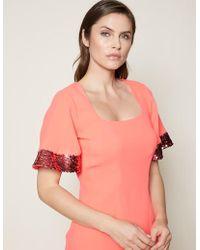 39b13680e5 Lyst - Cynthia Rowley Harper Stretch Plaid Dress in Pink - Save 10%