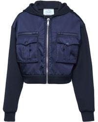 Prada - Technical Cotton And Nylon Gabardine Jacket - Lyst
