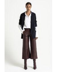 Dagmar Anna Chrome Free Leather Pants - Purple