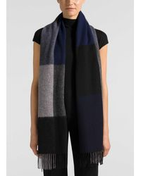 St. John Black Mountain Jacquard Wool Scarf