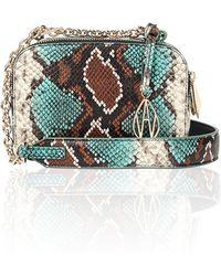 Amanda Wakeley - Turquoise Python Chain Crossbody Bowie Bag - Lyst