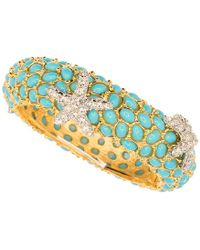 Kenneth Jay Lane - Turquoise And Crystal Starfish Bracelet - Lyst