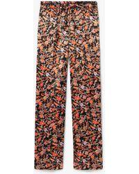 10 Crosby Derek Lam Drawstring Waist Paisley Print Pajama Pant - Multicolor