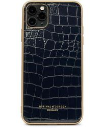 Aspinal of London Iphone 11 Pro Max Case With Gold Edge - Black