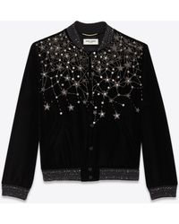 928b20bdcd Saint Laurent Women's Original Ysl Military Patch Denim Jacket In ...