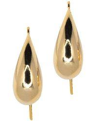 Kenneth Jay Lane - Polished Gold Fish Hook Pierced Earrings - Lyst