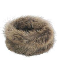 Amanda Wakeley Ida Natural Raccoon Snood