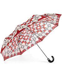 Aspinal of London Ladies Marylebone Compact Umbrella - Red