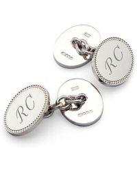 Aspinal of London Hobnail Sterling Silver Cufflinks - Metallic